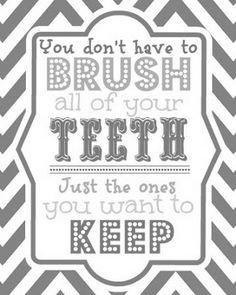 Blue Skies Ahead: Brush Your Teeth Printable!