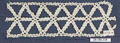 Date:      16th century  Culture:      Italian (Venice)  Medium:      Bobbin lace  Dimensions:      L. 6 1/2 x W. 2 inches (16.5 x 5.1 cm)