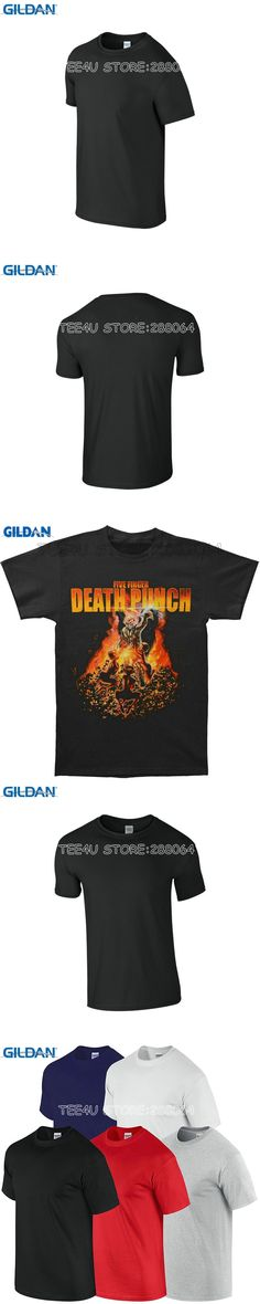 Tee4U Personalized Tee Shirts Short Gift O-Neck Five Finger Death Punch Purgatory 2014 Tour Shirts For Men