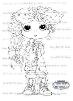 INSTANT DOWNLOAD Digital Digi Stamps Big Eye Big Head Dolls Digi Besties img225 By Sherri Baldy