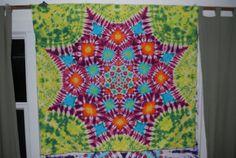 Mandala Tie Dye Tapestry Geometry by MorningDewTieDyes on Etsy, $50.00