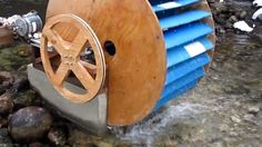 Water wheels have been used for ages as a reliable and efficient source of power. If you are situated near a river, creek or stream with a stable amount of flowing water, you can benefit fro… Renewable Energy, Solar Energy, Solar Power, Water Wheel Generator, Water Turbine, Survival Fishing, Hydroelectric Power, Nuclear Energy, Energy Storage