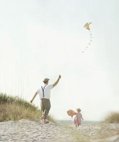Go outside and fly a kite with dad... #fathersday