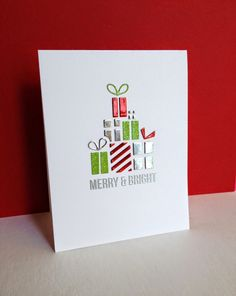 I'm in Haven— Piles of Gifts! from the STAMPtember® Simon Says Stamp release, using metallic papers.