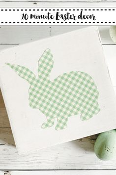 Make this adorable Easter decor craft in minutes with the DIY from Everyday Party Magazine @Cricut #EasterCrafts #EasterCraft #DIY #CricutMade