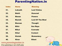 Here You Can Find Large Collection Of  Hindu Boy Baby Names With Meanings. Brought to you by ParentingNation.in.