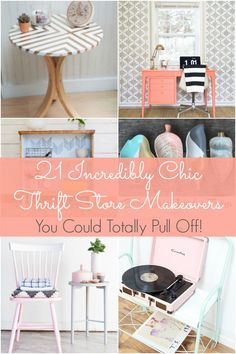 It's been a while since I've had a good makeover--a thrift store makeover that is! I used to regularly hit up thrift stores and garages sales, looking for fun projects to do, but I just ran out of inspiration. Now, thanks to these 21 incredibly chic thrift store makeovers, I have a renewed excitement for a good DIY project. Let these thrift store makeovers inspire you too! 21 Incredibly Chic Thrift Store Makeovers to Inspire You 1.Ugly to chic serving tray makeover 2. Boho chic jewelry ...