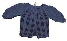 Striped one piece baby cardigan sweater
