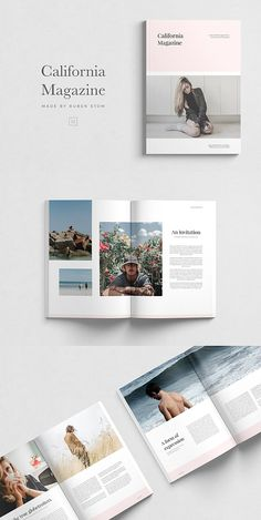 California Magazine Template - My Original Ideas Yearbook Pages, Yearbook Layouts, Yearbook Design, Yearbook Spreads, Yearbook Theme, Yearbook Covers, Corporate Brochure Design, Brochure Layout, Brochure Template