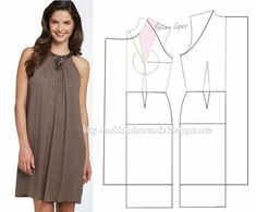 Patterns of different models of dresses378