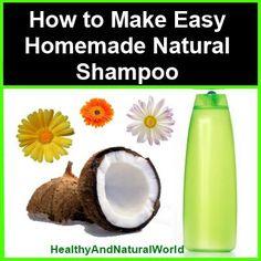 How to make easy natural shampoo