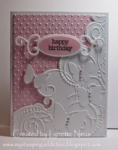 My Stamping Addiction: Embossed Butterflies