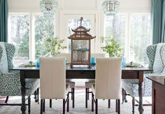 Turquoise Room: Dining room