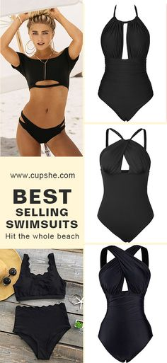 Hit the beach with in style Cupshe bikinis. Padded cups, fresh designs and smooth fabric perfect fit a whole range of flawless summer styles. Enjoy FREE shipping. Check them out~