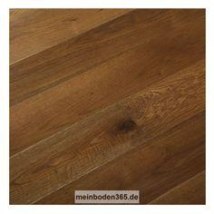 Eiche Nimes Das Parkett ist ein 3-Schicht Fertigparkett als Landhausdiele in der Holzart europäische Eiche. Die rustikale Oberfläche der Diele wurde zusätzlich leicht geräuchert und gebürstet. Dadurch erhält sie mehr Tiefenwirkung und eine mittel- bis dunkelbraune Deckschicht mit hellerem Splintholz. Zudem ist sie extrem matt lackiert. Das Parkett hat eine Nutzschicht mit einer Stärke von ca. 3,4 mm und eine umlaufende Mikrofase.