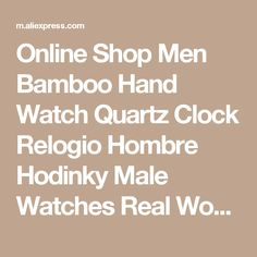Online Shop Men Bamboo Hand Watch Quartz Clock Relogio Hombre Hodinky Male Watches Real Wood Men Luxury Famous Brand Leather Strap 10pc  | Aliexpress Mobile