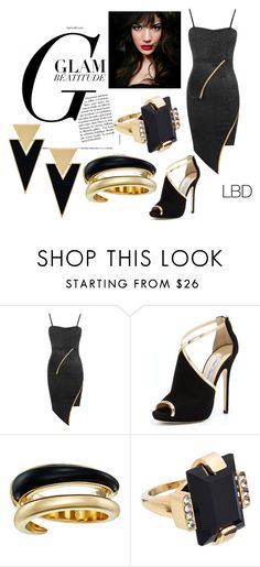 """""""LBD  LITTLE BLACK  DRESS"""" by ashleyyjames ❤ liked on Polyvore featuring WearAll, Jimmy Choo, IVI, Michael Kors, Marni and Yves Saint Laurent"""