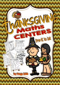 Thanksgiving Maths Centers (6 different Parts for Pre-k to
