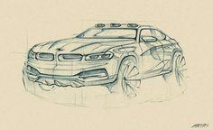 BMW SUV concept sketch