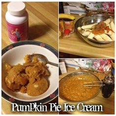 <3 Pumpkin Pie Ice Cream!!  4 bananas 1 cup pumpkin puree 1/3 Cup Honey... 1 1/2 teaspoon Pumpkin pie spice Blend together and freeze. Enjoy! I did double the batch!  SHARE to KEEP!! :)    <3 For more Great Recipes Join our awesome group! www.facebook.com/groups/lisastipsntricks <3   <3 Want to enjoy these  recipes without  overdoing  it,  or feel guilty!!? Check out our all natural, stimulant free product! we  have a 90 day guarantee on our specials right now, and a Less than 1% return…