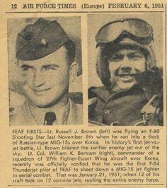 Russell Brown Korean War Fighter Pilot