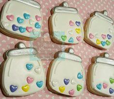 Cookie jar Valentines Day sugar cookies hearts