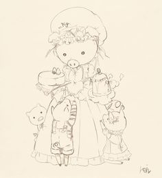 illust / pig easy pen drawing ^^