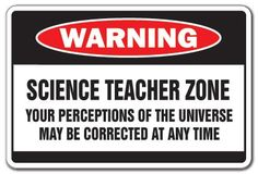 SCIENCE TEACHER ZONE Warning Sign school supplies gag -- Find out more about the great product at the image link. This Amazon pins is an affiliate link to Amazon.