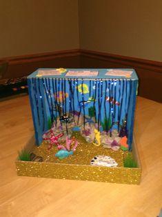 Ocean diorama, Dioramas and Ocean Ocean Projects, Animal Projects, Science Projects, School Projects, Projects For Kids, Crafts For Kids, Shark Habitat, Ocean Habitat, Coral Reef Biome