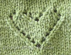 Little knitted lace heart you could include into scarves, sweaters, blankets and any knitting project of your choosing. Here I created a little dishcloth with garter stitch surrounding the heart. The knitting instructions do not include the garter stitch, just the panel with the heart.   Abbreviations: k= knit p= purl yo = yarn over…