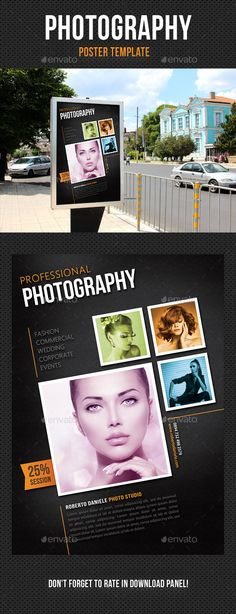 Photography Poster Template PSD. Download here: http://graphicriver.net/item/photography-poster-template-v05/13435969?ref=ksioks