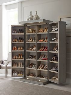 Bedroom Closet Storage, Bedroom Closet Design, Master Bedroom Closet, Home Room Design, Closet Designs, Shoe Storage Design, Shoe Storage Small, Shoe Storage Solutions, Rack Design
