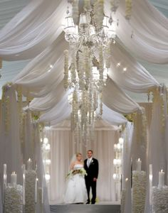 That's a lot of white!  wedding altar decorations | hasta el altar... by marsella.franco  Keywords: #weddings #jevelweddingplanning Follow Us: www.jevelweddingplanning.com  www.facebook.com/jevelweddingplanning/
