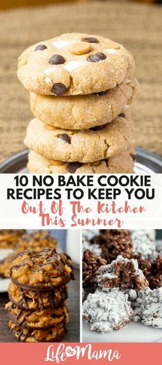 10 No Bake Cookie Recipes To Keep You Out Of The Kitchen This Summer. Make cookies without the oven! Recipes no oven 10 No Bake Cookie Recipes To Keep You Out Of The Kitchen This Summer Easy No Bake Cookies, No Bake Treats, How To Make Cookies, No Bake Desserts, Easy Desserts, Baking Desserts, Dutch Oven Bread, Baking With Kids, Paper Cupcake