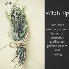 Witchy tip! Magick Spells, Wicca Witchcraft, Wiccan Witch, White Witch Spells, Hedge Witchcraft, Wiccan Sabbats, Hoodoo Spells, Green Witchcraft, How To Dry Rosemary
