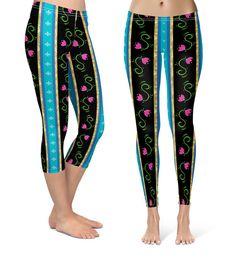 8eff426df1 Scandinavian Frozen Anna Inspired Disney - Leggings in Capri or Full  Length, Sports | Yoga | Winter Styles in Sizes XS - 3XL