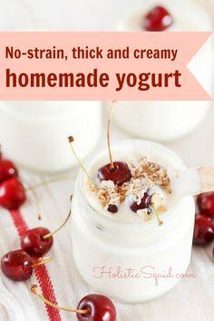 Thick and Creamy Raw Homemade Yogurt - No straining necessary!