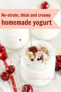 Thick and Creamy Raw Homemade Yogurt - No straining necessary!