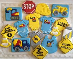 Construction themed Baby Shower Cookies by IbKookieKrumbles