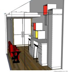 Blog Deco, Ikea, Loft, Mademoiselle, Furniture, Home Decor, Mezzanine Bed, Bedroom, Decoration Home