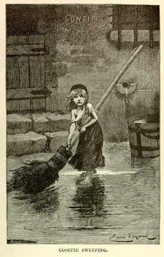 Portrait of Cosette by Émile Bayard - Les Miserables, Victor Hugo