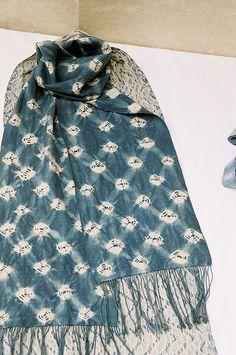 Shibori scarves by mary blue jean, via Flickr