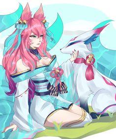 League Of Legends Game, League Of Legends Characters, Anime Girl Neko, Anime Art Girl, Ahri Wallpaper, Ahri Lol, Character Art, Character Design, Ahri League
