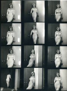 Planche contact de Marylin Monroe en robe blanche