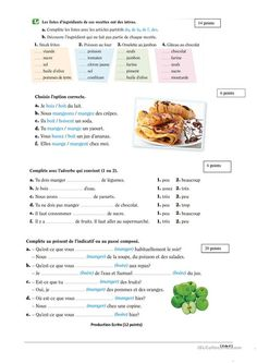 Way To Learn French Student French Online Website Learn French Fast, Learn To Speak French, French Verbs, French Grammar, French Teacher, Teaching French, Food In French, French Conversation, French Worksheets