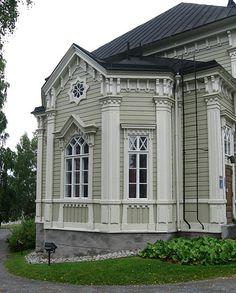 Kangasniemi church, close-up, Kangasniemi,Finland.