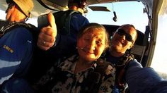 Photos of an 81-year-old grandma's first skydive will warm your heart