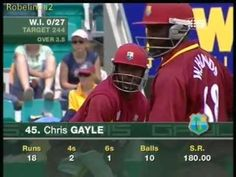 Chris Gayle takes on Tait & Lee, administers a rectal examination 2005 - YouTube