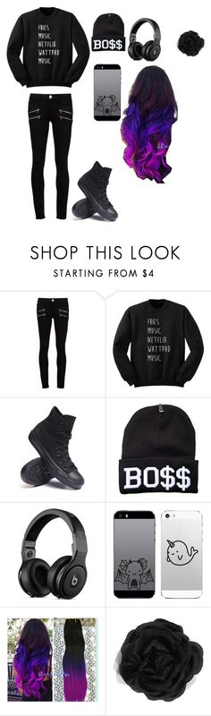 """Untitled #112"" by cupcakegirl4567821 ❤ liked on Polyvore featuring Paige Denim, Converse and Accessorize"