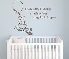 Winnie the Pooh I knew When I met you Wall Decal Quote By LovelyDecals Check it Out!! On Sale!!